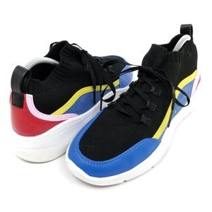 a new day Black Blue Red Pink Sock Shoe Sneakers 7